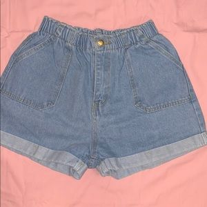 High-wasted Jean shorts